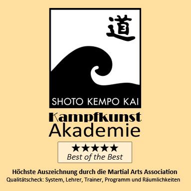 Logo der Kampfkunst-Akademie Stade: Best of the Best Auszeichnung der Martial Arts Association